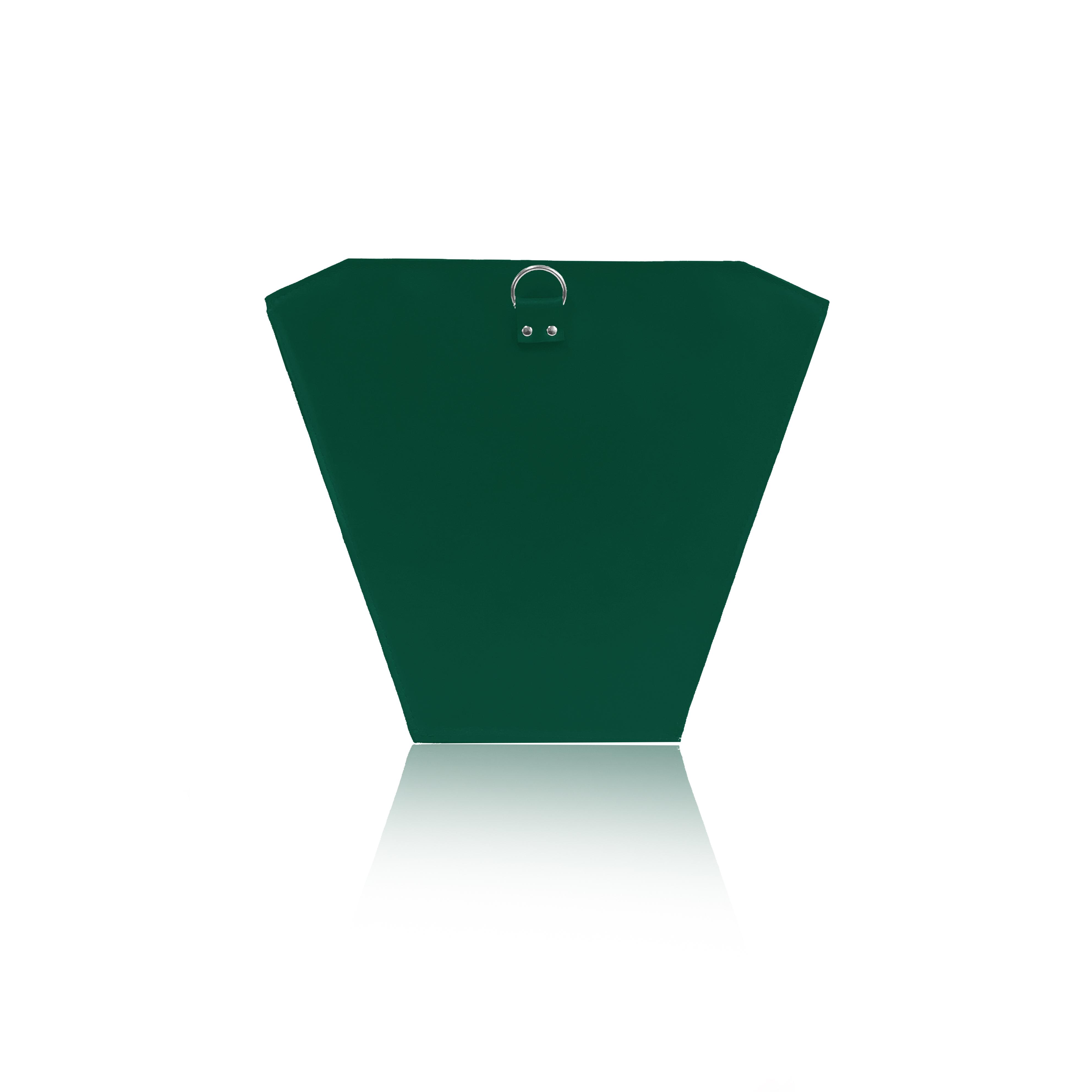 Zöld bőr válltáska, hátizsák, piramis táska, alaptáska