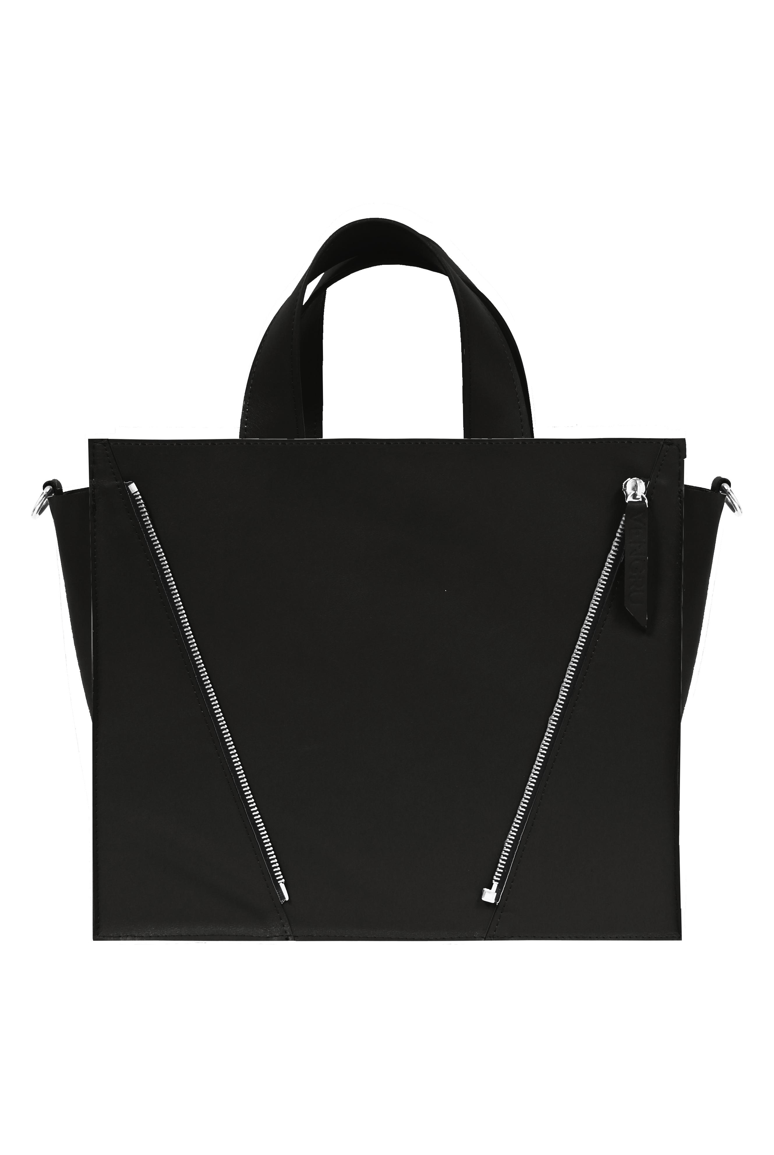 fekete bőr válltáska, kocka táska