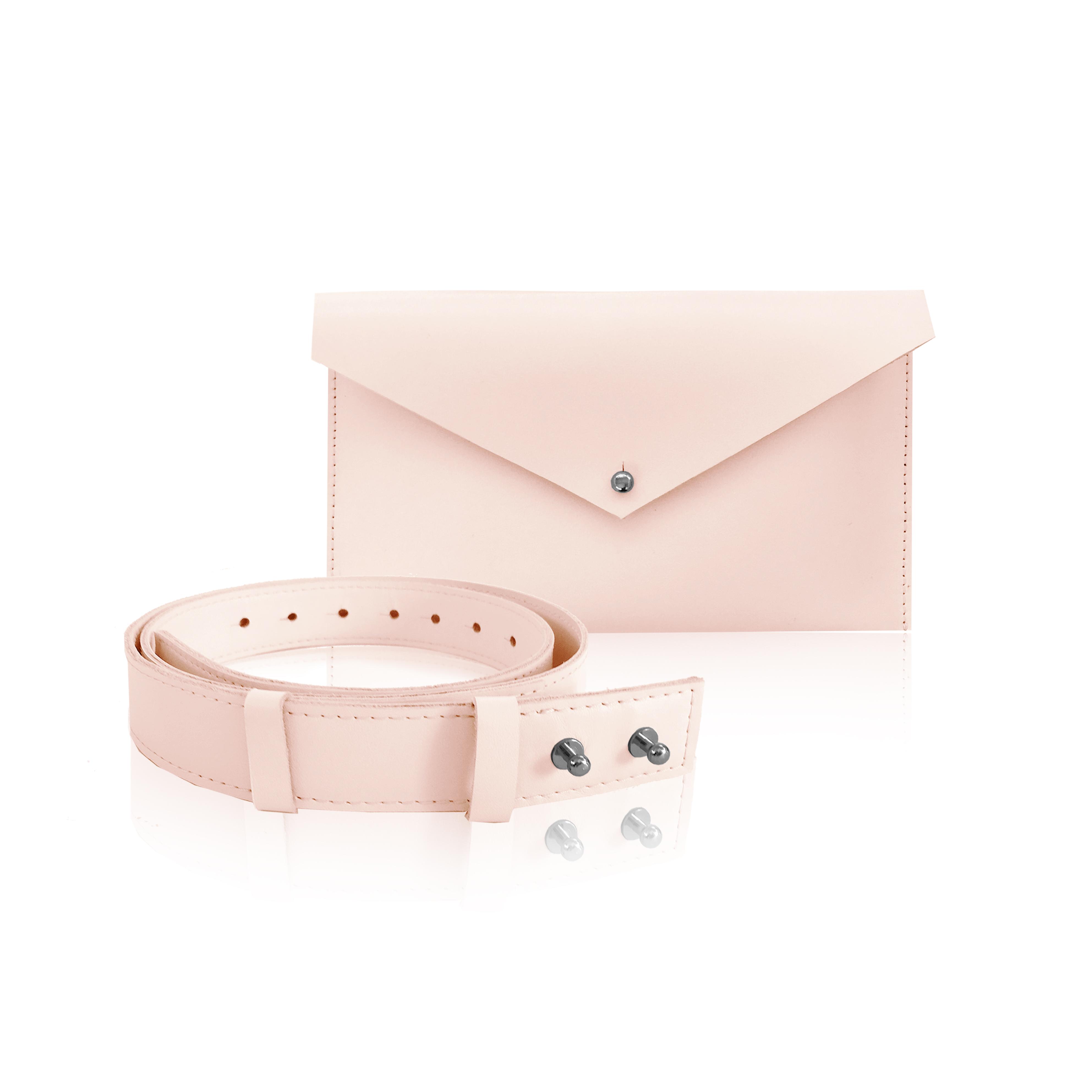 púder rózsaszín designer övtáska
