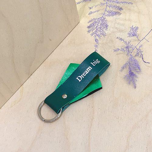 egyedi design bőr kulcstarto_dream big (3)