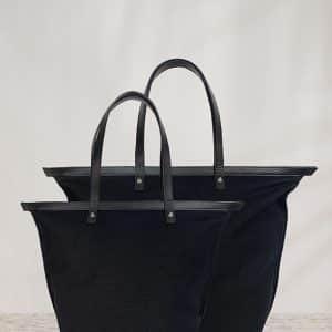 vászon táska fekete kis és nagy méret