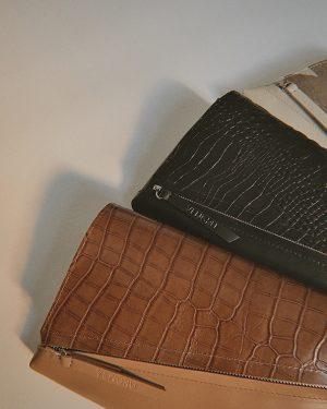Egyedi táska kézitáska borítéktáska krokodil mintás cserélhető fedéllel (1)