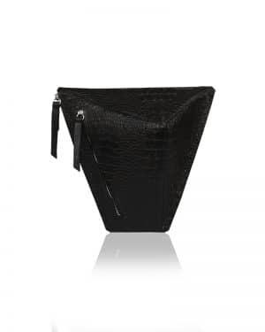 krokodil mintás fekete vengru táska paneltáska