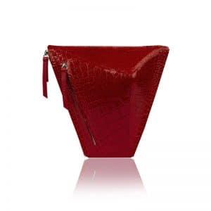 krokodil mintás piros vengru táska paneltáska