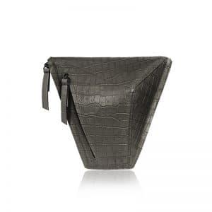 krokodil mintás szürke vengru táska paneltáska