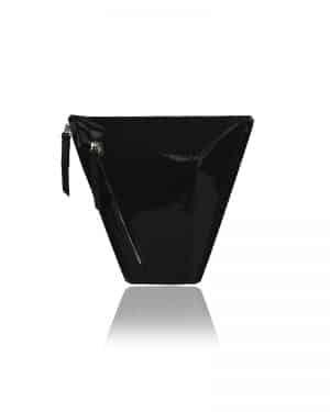 lakk fekete vengru táska paneltáska