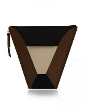 válltáska Vengru variálható táska paneltáska gem kistáska fekete csoki homok