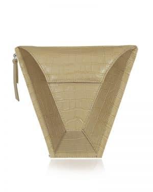 válltáska Vengru variálható táska paneltáska gem kistáska krokodil homok