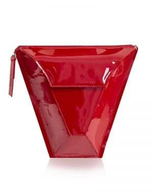 GEM fedeles paneltáska piros lakk