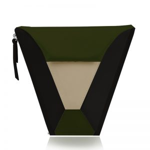 válltáska Vengru variálható táska paneltáska gem kistáska oliva fekete homok