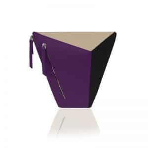 variálható táska paneltáska Vengru homok lila fekete