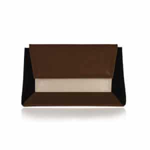 övtáska kézitáska Vengru táska fekete csoki homok